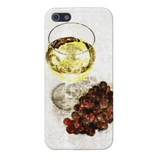 white wine glass and grapes case