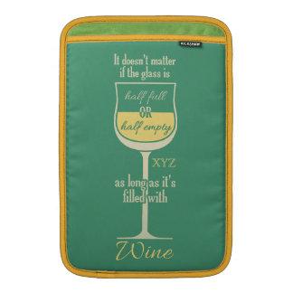 White Wine Glass custom device sleeves MacBook Air Sleeve