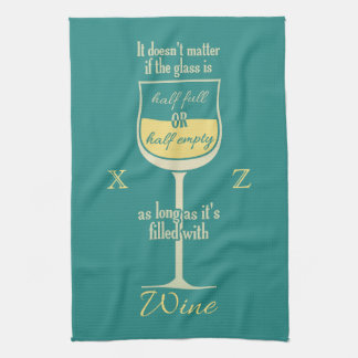 White Wine Glass custom kitchen towel