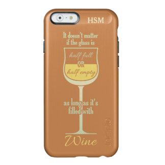 White Wine Glass custom monogram cases Incipio Feather® Shine iPhone 6 Case