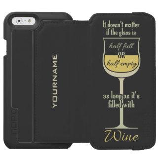 White Wine Glass custom monogram wallet cases