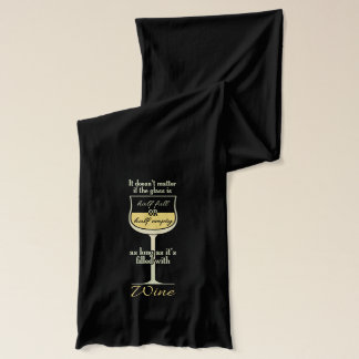 White Wine Glass custom scarf