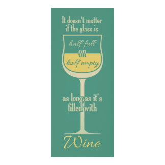 White Wine Glass poster