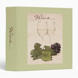 White wine glasses wine binder