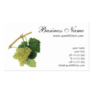 White Wine Grapes on the Vine, Vintage Food Fruit Business Card