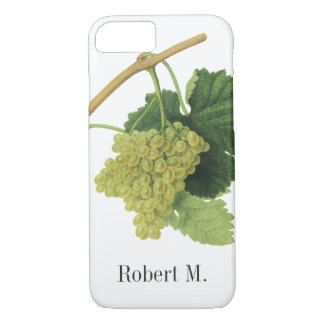 White Wine Grapes on the Vine, Vintage Food Fruit iPhone 8/7 Case