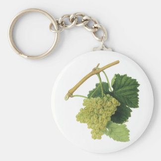 White Wine Grapes on the Vine, Vintage Food Fruit Keychain