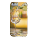 White wine is poured from bottle in restaurant. barely there iPhone 6 case
