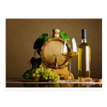 White Wine on the Table Post Card