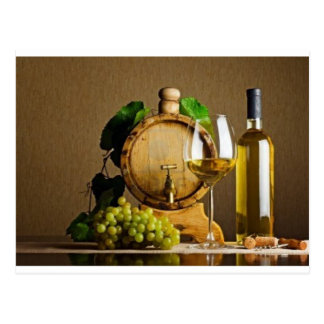 White Wine on the Table Postcard