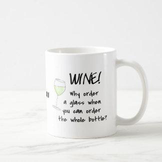 White Wine - Order Whole Bottle Name Personalized Classic White Coffee Mug