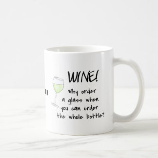 White Wine - Order Whole Bottle Name Personalized Coffee Mug