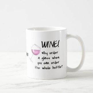 White Wine - Order Whole Bottle Name Personalized Coffee Mug