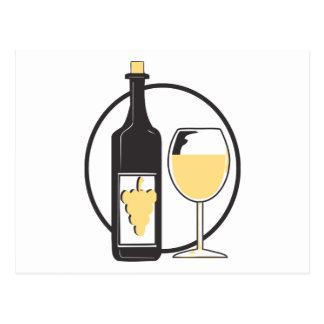White Wine Postcard
