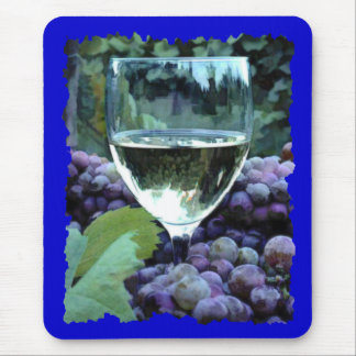 White Wine Reflections Mouse Pad