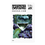 White Wine Reflections Postage