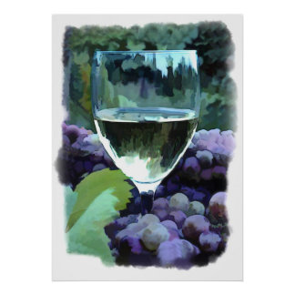 White Wine Reflections Posters