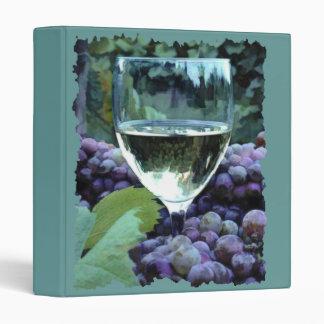 White Wine Reflections Vinyl Binder