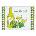 White Wine Save the Date Card