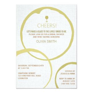 "White Wine Stain Rings Bridal Shower Invitations 4.5"" X 6.25"" Invitation Card"