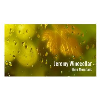 White wine vineyard business card templates