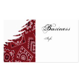 white wing paisley RED Business Card