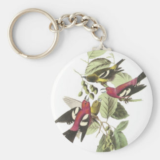 White-winged Crossbill Keychain