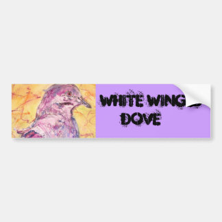 White-winged Dove art Bumper Sticker