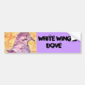 White-winged Dove art Car Bumper Sticker
