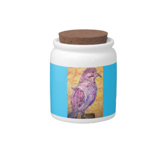 White-winged Dove art Candy Jar