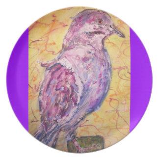 White-winged Dove art Dinner Plate