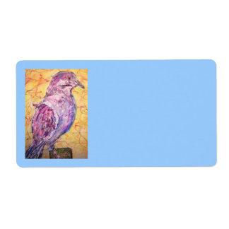 White-winged Dove art Label