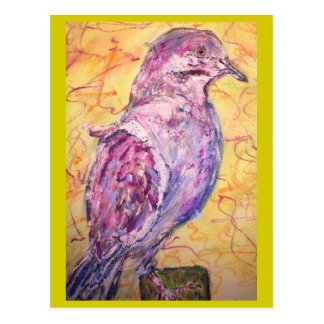 White-winged Dove art Postcard