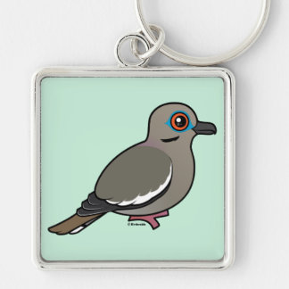 White-winged Dove Keychain