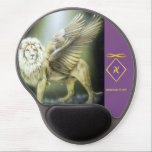 "White Winged Lion Mousepad<br><div class=""desc"">Features the White Winged Lion archetype</div>"