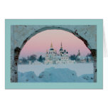 white winter caucasus stationery note card
