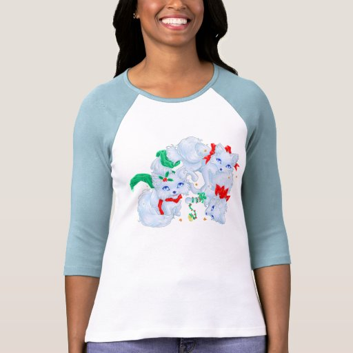 White Winter Foxes T-shirt