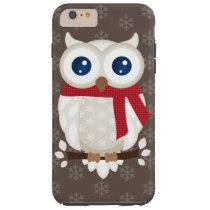 White Winter Owl Tough iPhone 6 Plus Case