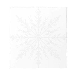 White Winter Snowflake Notepad