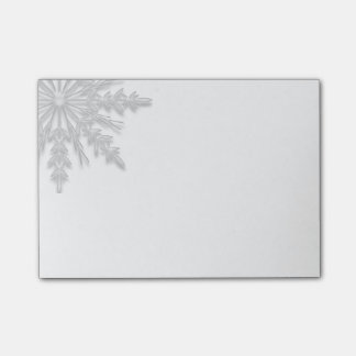 White Winter Snowflake Post-it® Notes