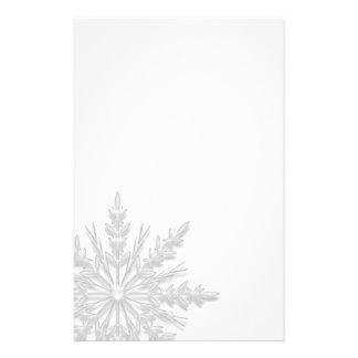 White Winter Snowflake Stationery