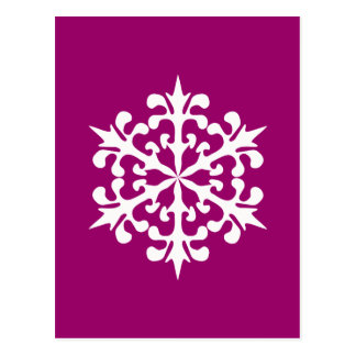 White Winter Snowflakes Ice Crystals Postcard