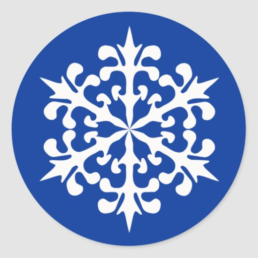White Winter Snowflakes Ice Crystals Sticker