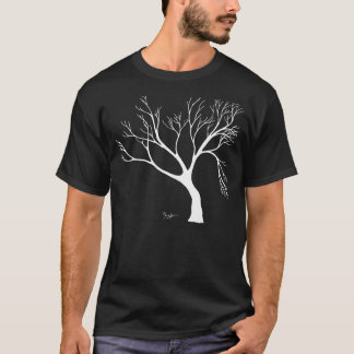 White Winter Tree - Pen and Ink Drawing T-Shirt