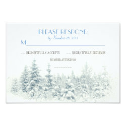 White winter wedding RSVP cards 3.5