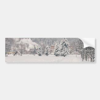 White Winter Wonderland Landscape Bumper Stickers
