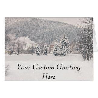 White Winter Wonderland Landscape Card