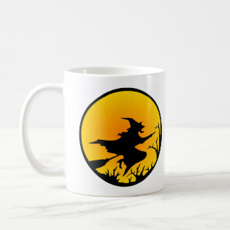 White Witch Moon Circle Classic White Coffee Mug