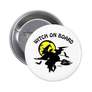 White Witch On Board 2 Inch Round Button