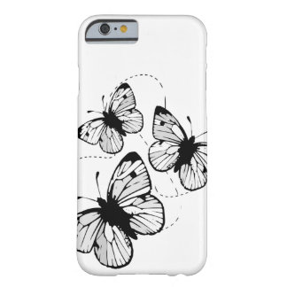 White with black butterflies iPhone 6 Barely There iPhone 6 Case